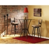 Lily Contemporary Upholstered Swivel Stool - AMIS-41421