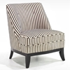 Jester Armless Club Chair - Black and Brown Tuxedo Stripe - AL-LC861CLTX