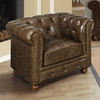 Winston Chesterfield Style Leather Chair - AL-LC10601VICO