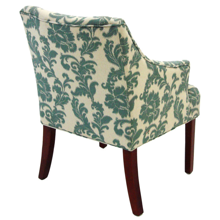 ... Ikat Fabric Armchair With Ornate Patterns   AL LC2988CLGR ...