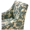 Ikat Fabric Armchair with Ornate Patterns - AL-LC2988CLGR