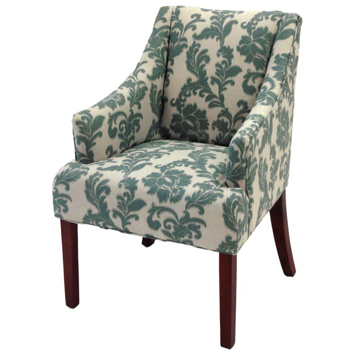 Ikat Fabric Armchair With Ornate Patterns   AL LC2988CLGR ...