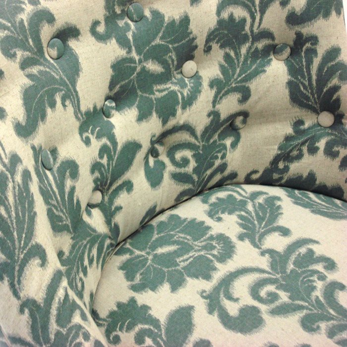 Ikat Fabric Accent Chair With Button Tufts Dcg Stores