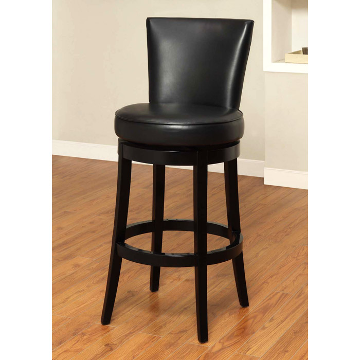 "Boston 26"" Leather Swivel Counter Stool - AL-LC4044BA-26"