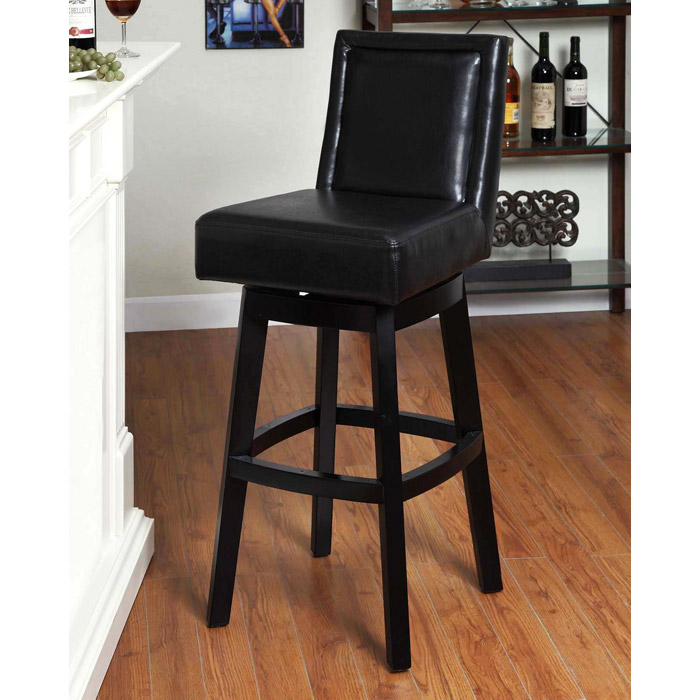 Wayne 30 Quot Leather Swivel Bar Stool Dcg Stores