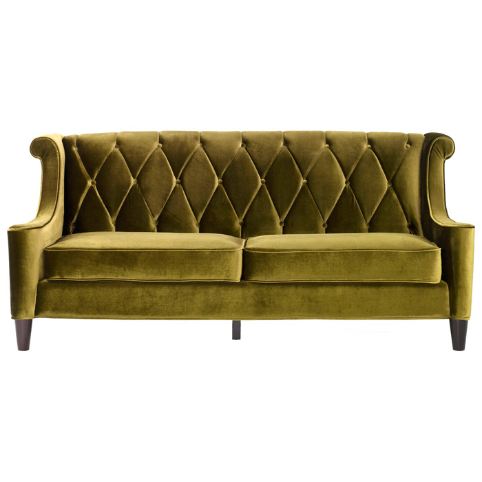Barrister Velvet Fabric Sofa With On Tufting Al Lc8443