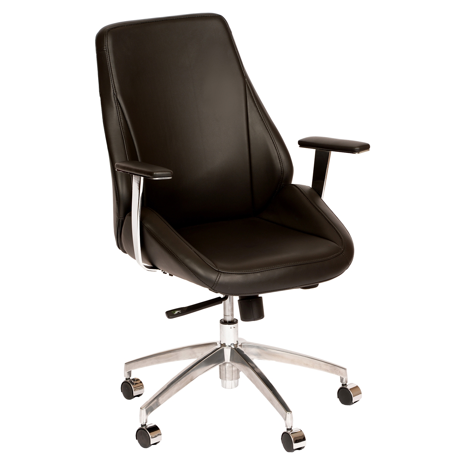 Argo Contemporary Office Chair - Adjustable, Black - AL-LCAROFCHBL