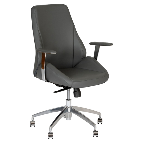 Argo Contemporary Office Chair Adjustable Gray DCG Stores