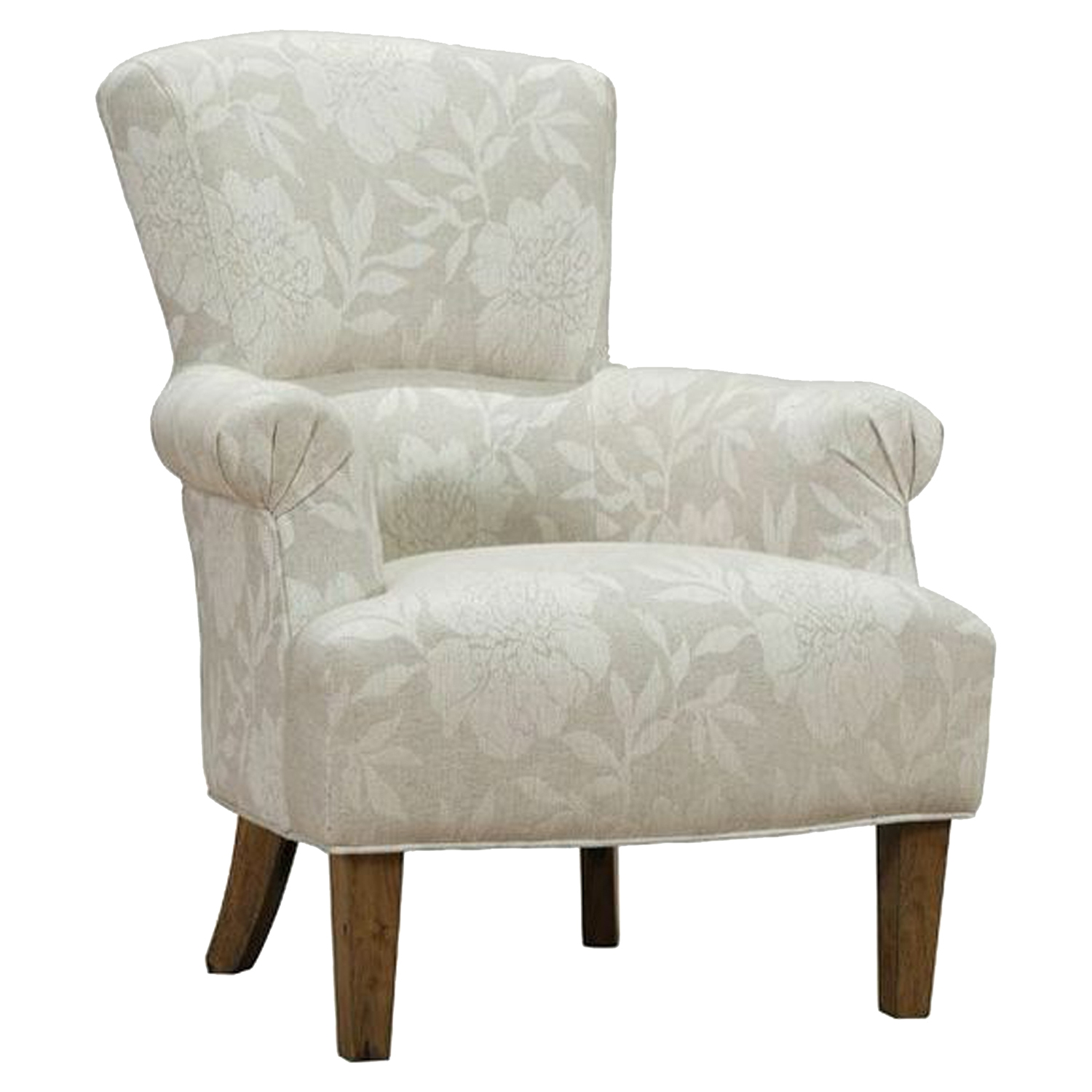 Barstow Accent Chair - Cream Flower Fabric - AL-LCBACHCR