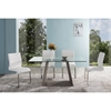 Bravo Contemporary Dining Table - Dark Sonoma, Clear Glass - AL-LCBRDIGLTO