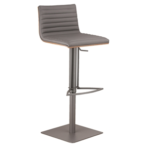 Cafe Adjustable Metal Barstool - Gray
