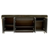Chow Contemporary Buffet Table - Stainless Steel, Black Marble Top - AL-LCCHBUTO