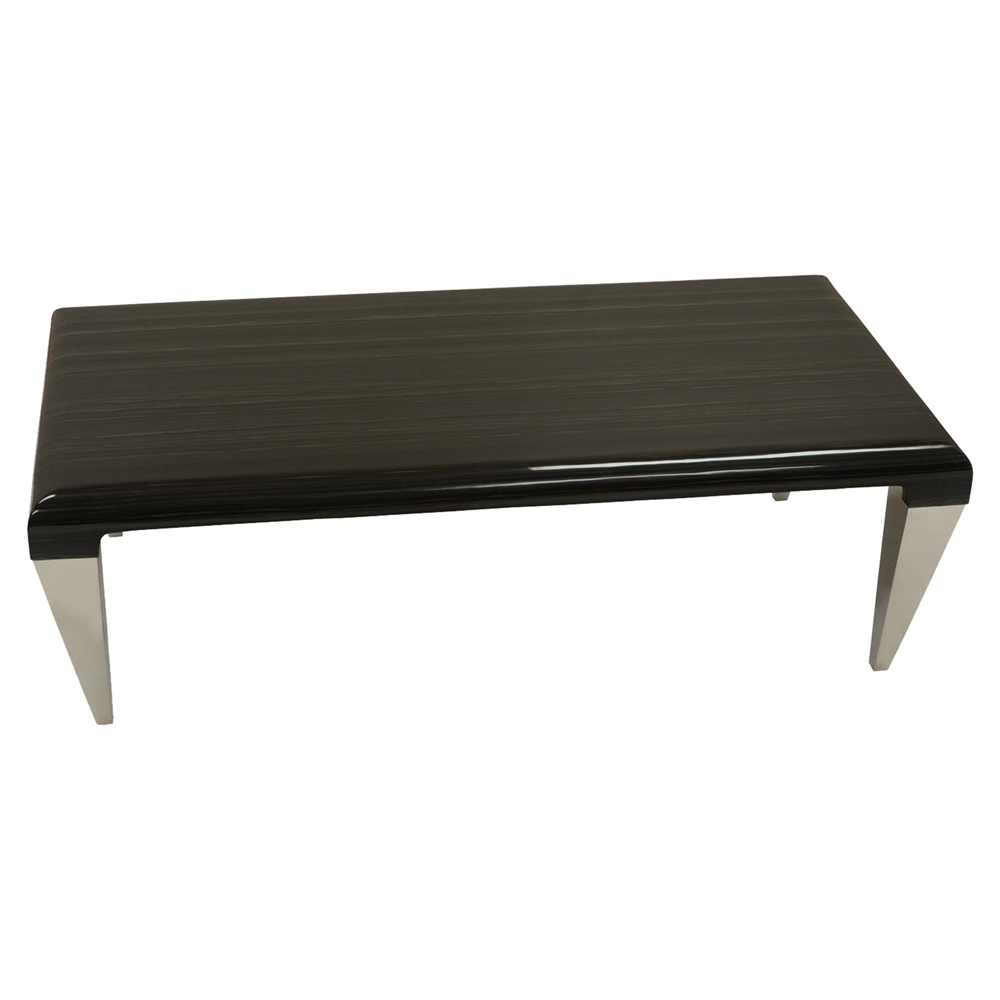 Black Coffee Table With Marble Top: Chow Contemporary Coffee Table