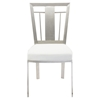 Cleo Contemporary Dining Chair - White (Set of 2) - AL-LCCLCHWHB201