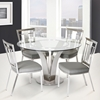 Cleo 5-Piece Contemporary Dining Set - Gray - AL-LCCLCHGRB201-SET