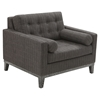 Centennial Sofa Set - Charcoal Chenille Fabric - AL-LCCN-SET