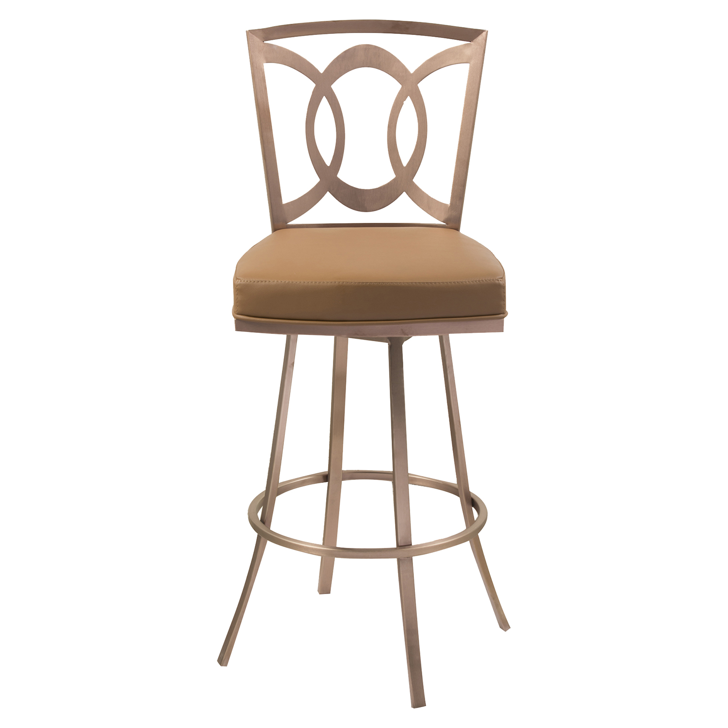 "Drake 26"" Contemporary Swivel Barstool - Camel - AL-LCDR26SWBACAG201"