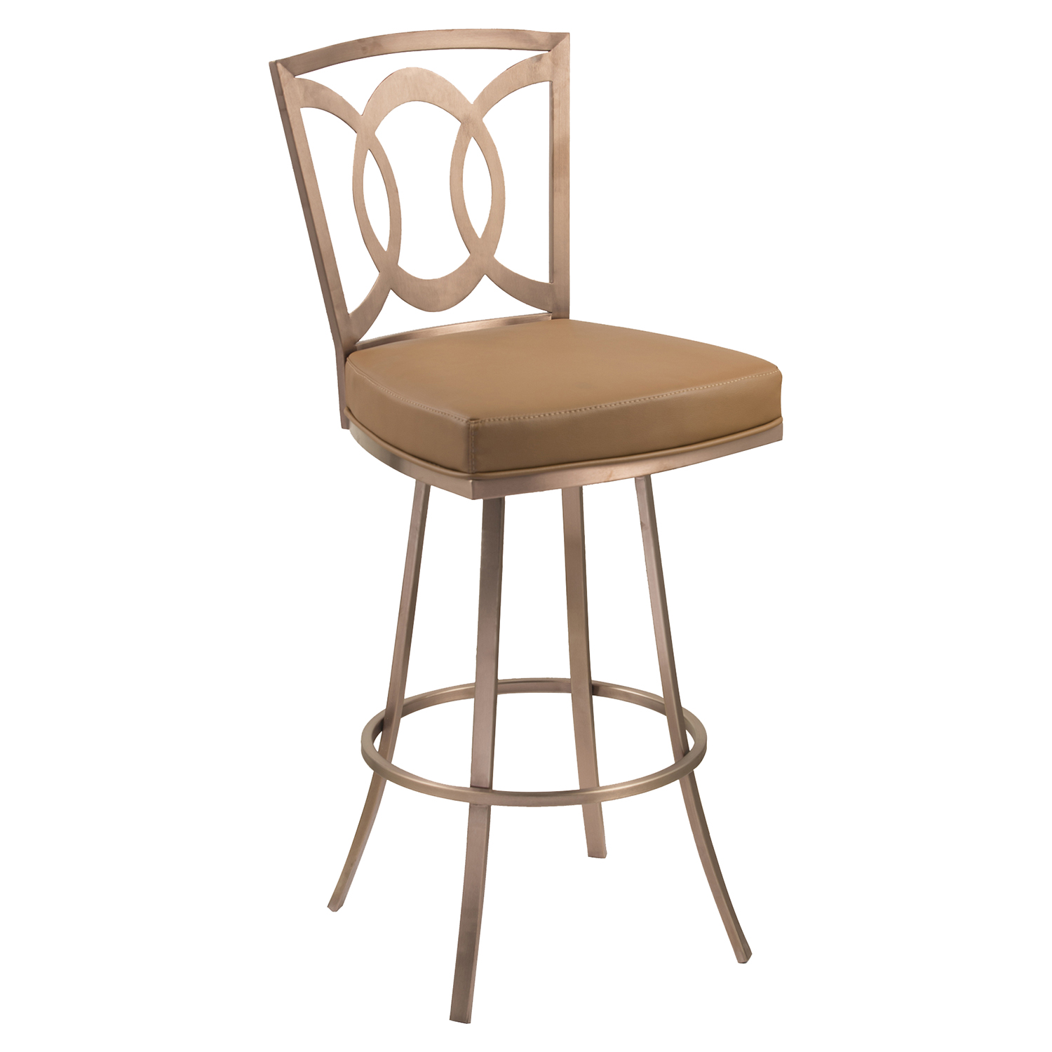 "Drake 30"" Contemporary Swivel Barstool - Camel - AL-LCDR30SWBACAG201"