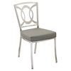 Drake Modern Dining Chair - Gray, Stainless Steel (Set of 2) - AL-LCDRCHGRB201