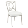 Drake Modern Dining Chair - White, Stainless Steel (Set of 2) - AL-LCDRCHWHB201