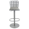 Dune Contemporary Barstool - Adjustable, Gray - AL-LCDUBAGRBA