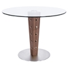 Elton Modern Dining Table - Glass Top, Stainless Steel Base - AL-LCELDIB201TO