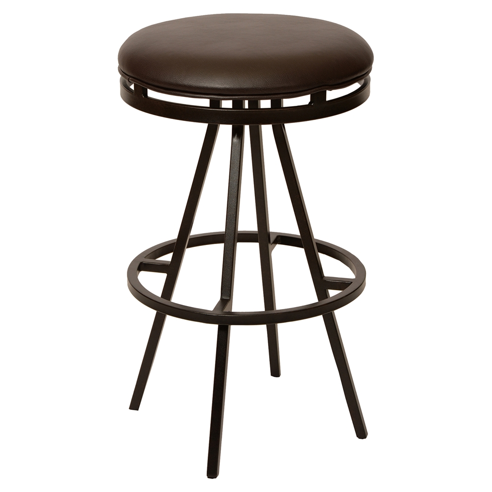 Fiji 30 Quot Modern Swivel Barstool Backless Coffee Dcg