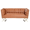 Jasper Modern Sofa Set - Gold Matte, Chestnut - AL-LCJACH-SET