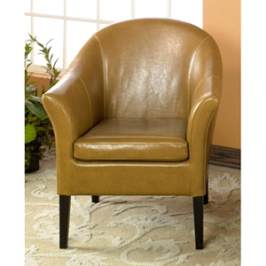 Clementine Camel Leather Club Chair