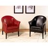 Clementine Leather Club Chair in Black - AL-LCMC001CLBL