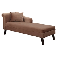 Patterson Chaise - Brown Velvet Fabric