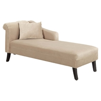 Patterson Chaise - Taupe Velvet Fabric