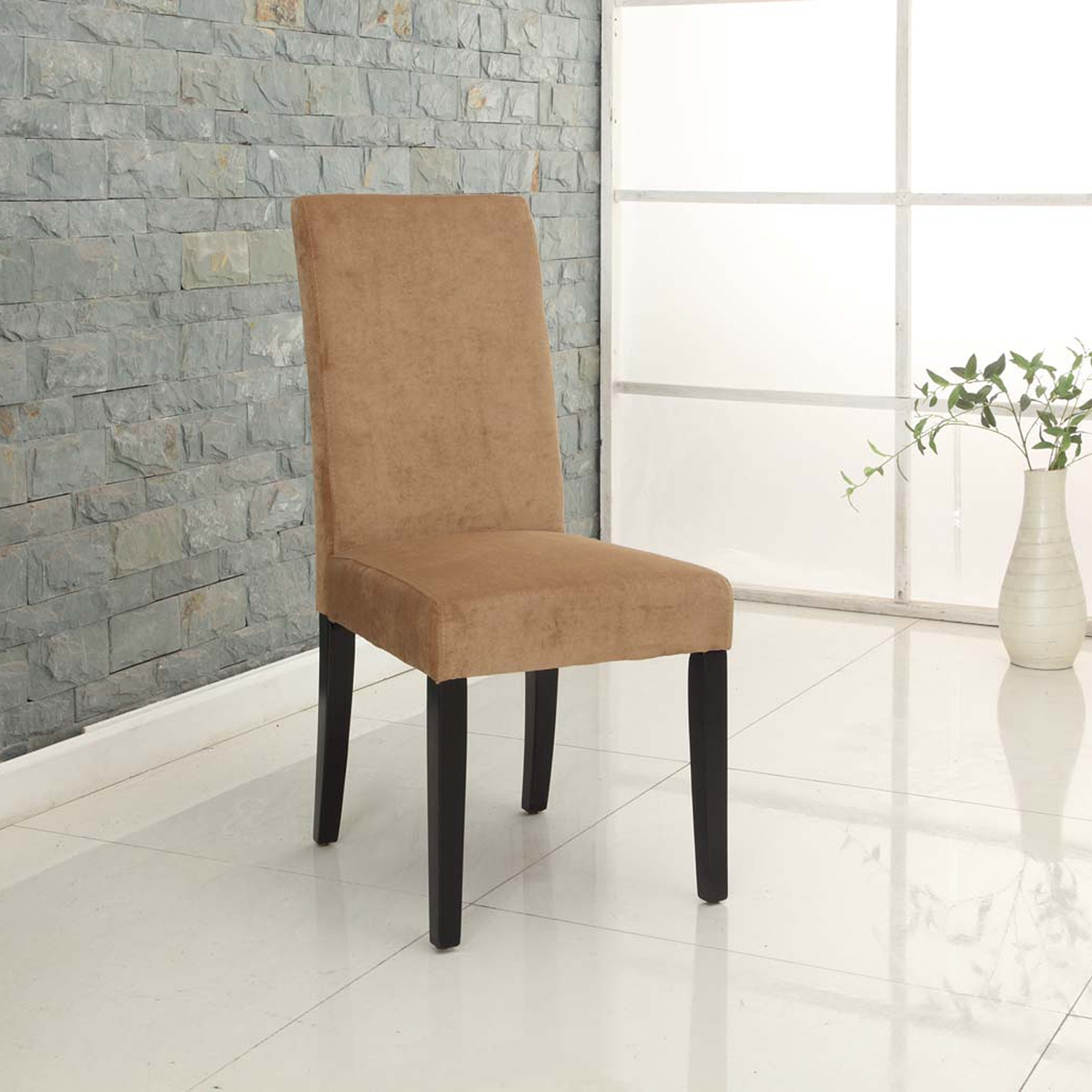 Tobacco Fabric Color Side Chair (Set of 2) - AL-LCMD014SIMFTO