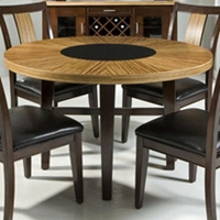 Milano Zebrano Round Dining Table