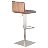 Oslo Adjustable Barstool - Gray, Brushed Stainless Steel - AL-LCOSSWBAGRB201