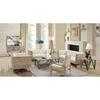 Regis sofa set tufted cream fabric pine frame gunmetal legs al