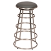 "Ringo 26"" Barstool - Backless, Gray Seat, Brushed Stainless Steel - AL-LCRISW26BAGRB201"