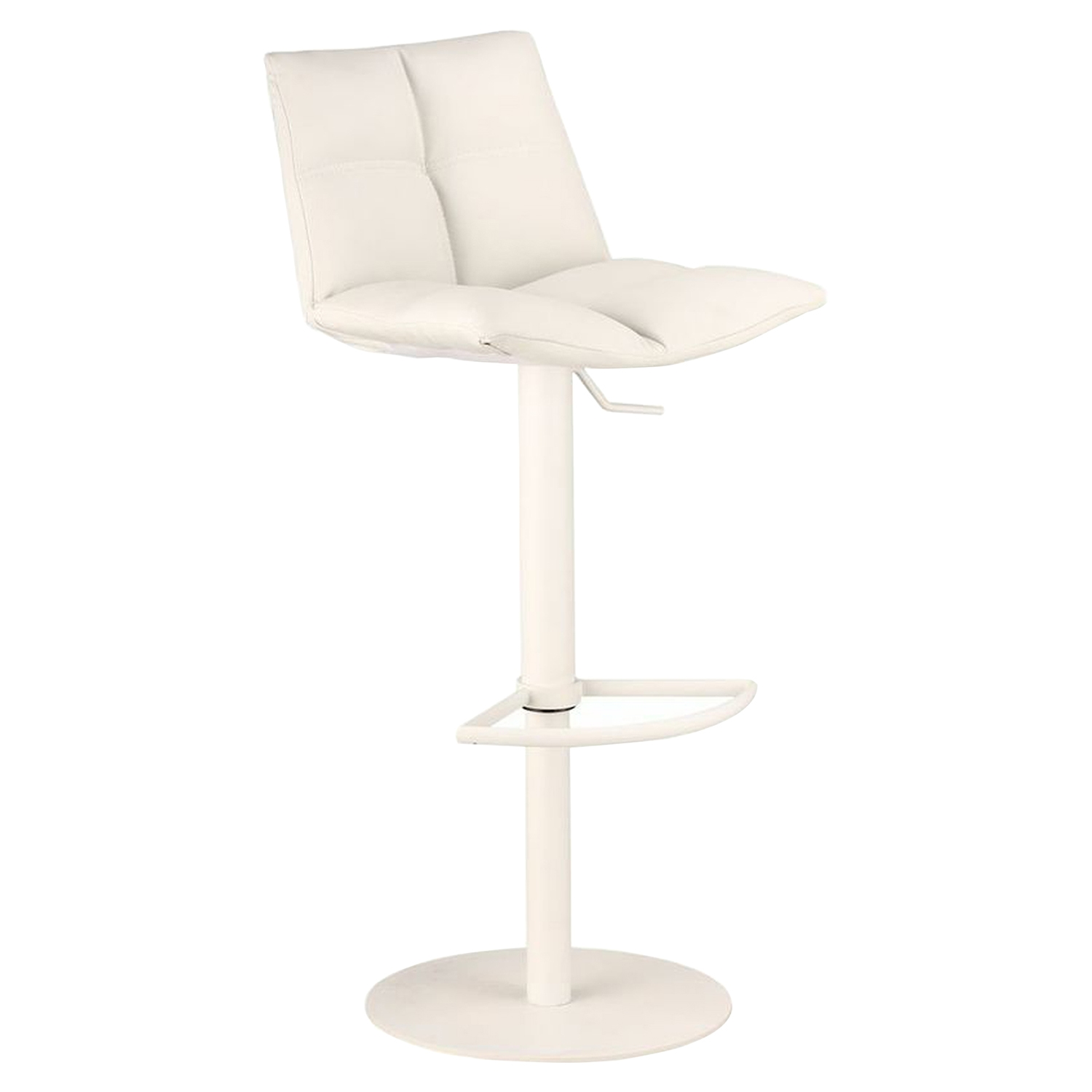 Roma Adjustable Barstool - White - AL-LCROSWBAWHBA