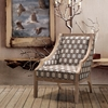 Sahara Accent Chair - Solid Wood, Multi-Colored Fabric - AL-LCSA1CR