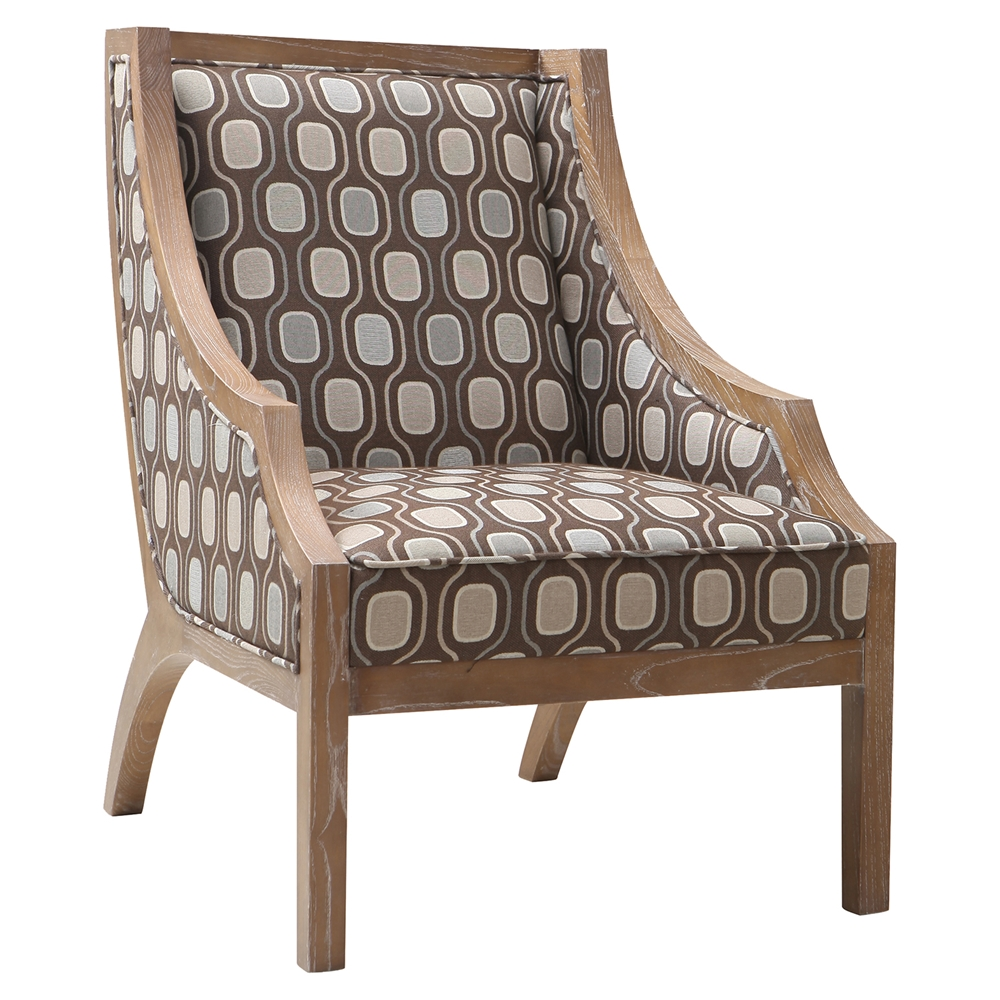 Sahara Accent Chair - Solid Wood, Multi-Colored Fabric ...