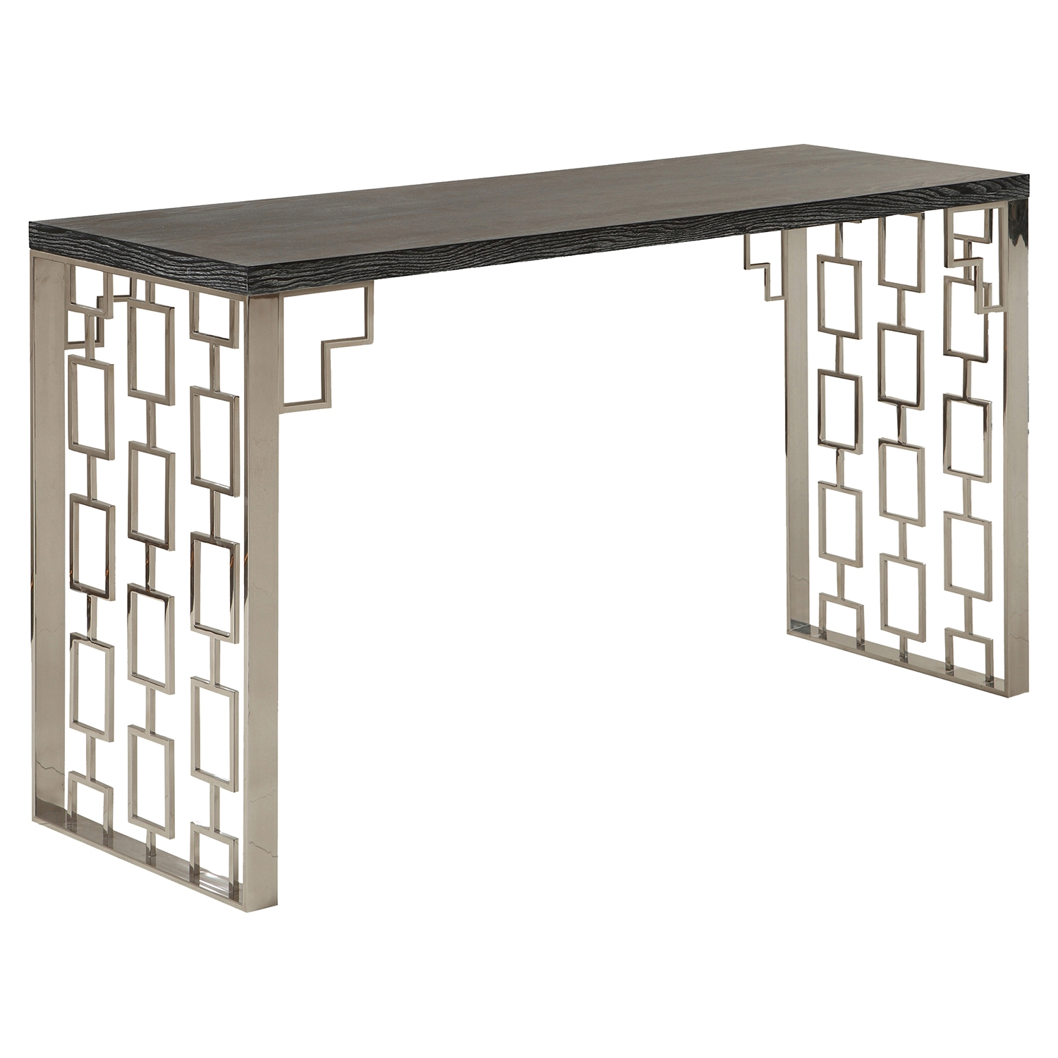 Skyline Console Table - Charcoal Top - AL-LCSKCNBLMT