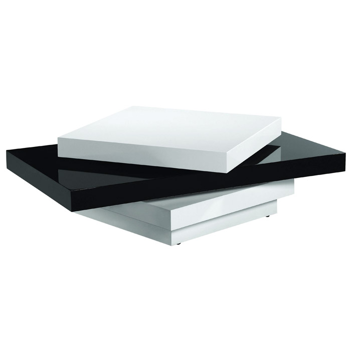 Orca Coffee Table In High Gloss Black And White Dcg Stores