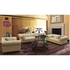 Tuxedo Sofa - Beige Bonded Leather - AL-LCTU3BE