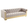 Zinc Contemporary Sofa Set - Taupe Tweed, Shiny Gold - AL-LCZITAU-SET