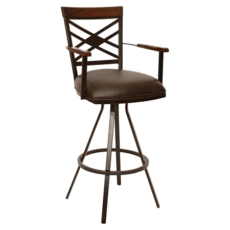 Zoe 30 Quot Transitional Arm Barstool Coffee Auburn Bay