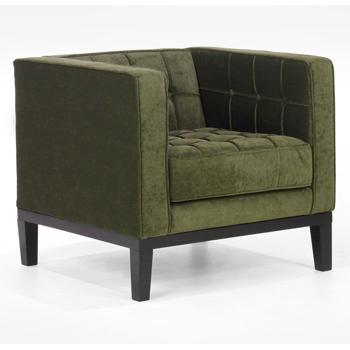 Roxbury Chenille Tufted Arm Chair