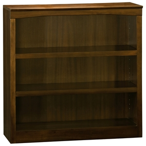 3-Tier Wooden Bookcase with Adjustable Shelves