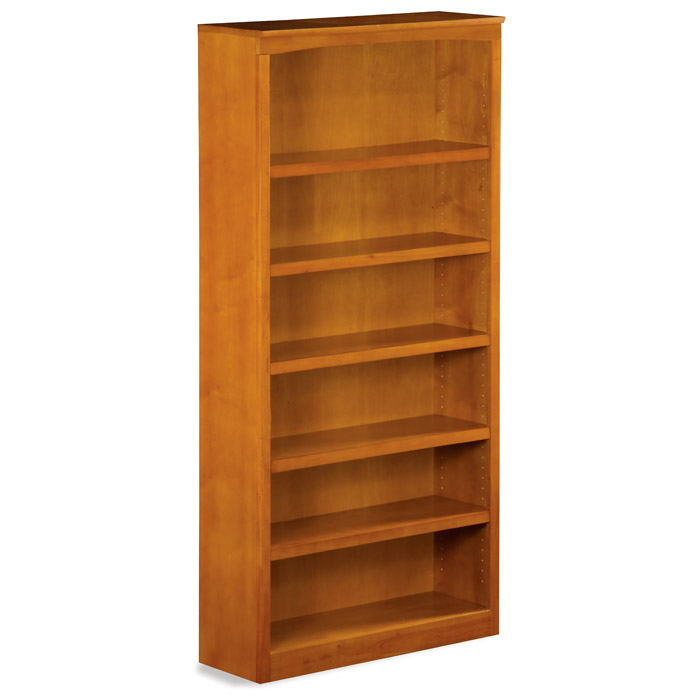 6 Tier Wooden Bookcase With Adjustable Shelves Dcg Stores