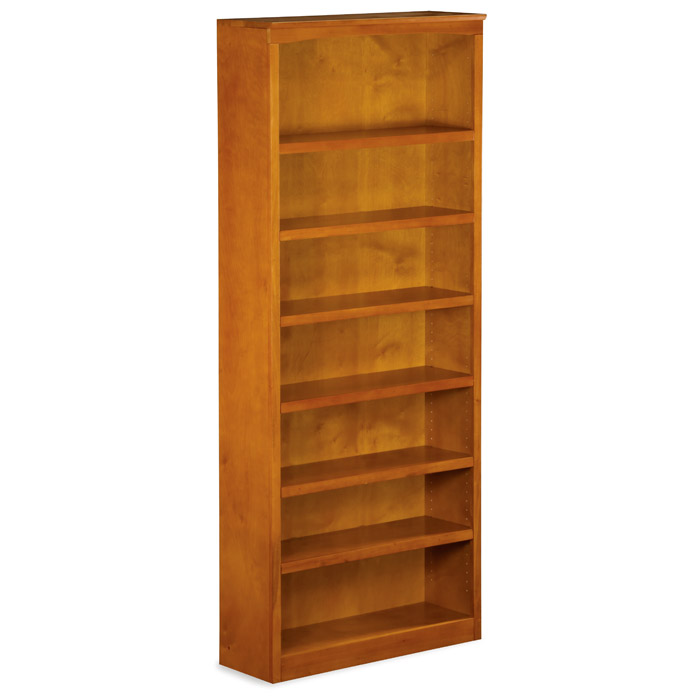 Attirant ... 7 Tier Wooden Bookcase With Adjustable Shelves   ATL H 8007 ...