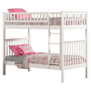 Woodland Twin over Twin Bunk Bed - Ladder